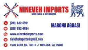 Nineveh-Imports-Business-Card-Design